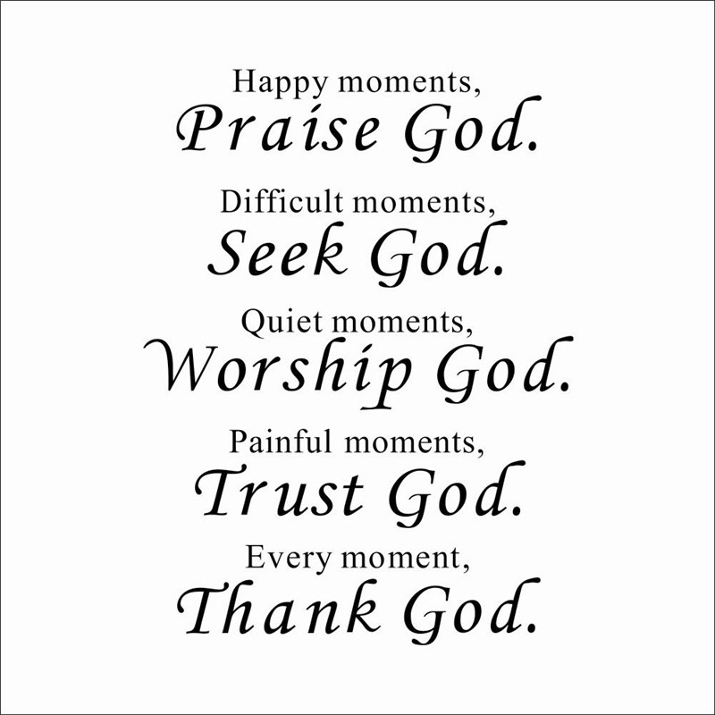Every-Moment-Thank-God-Wall-Decals-Living-Room-Decorative-Stickers-Diy-Vinyl-Art-Home-Decals